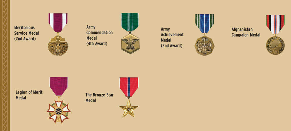Medals earned by CW5 Bryan. List is not all-inclusive.