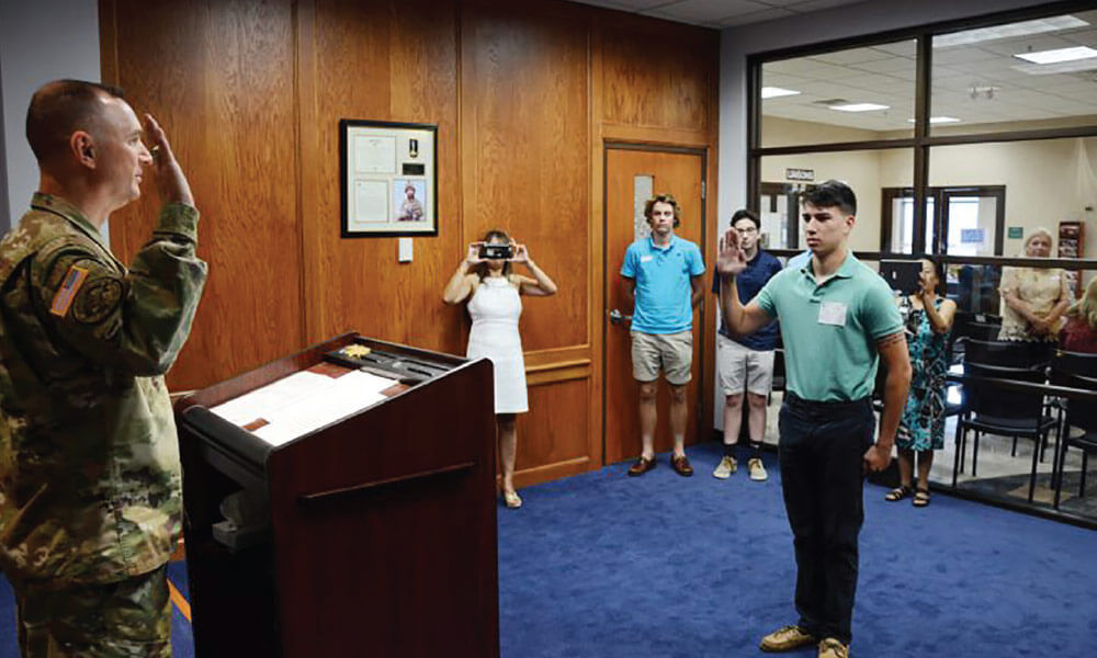 Son of Fallen Virginia National Guard Officer Enlists on Parents' 20th Anniversary thumbnail image