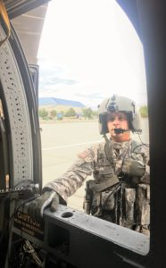 Idaho Army National Guard UH-60 A/L Black Hawk crew chief SGT Marcus Wilson