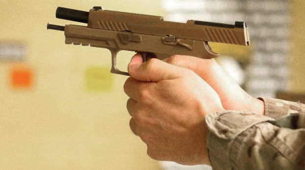 The M17 is the Army's newest handgun currently being fielded to Soldiers. U.S. Army photo by SGT Samantha Stoffregen