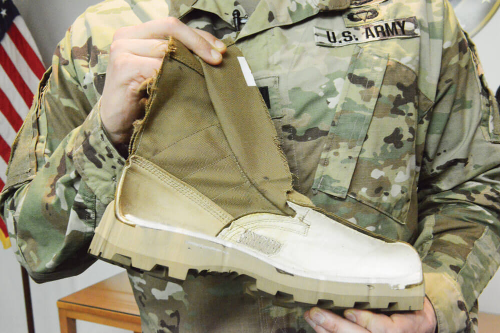 The Army's new Jungle Combat Boot – shown here are the sole and inner lining of the boot. U.S. Army photo by C. Todd Lopez