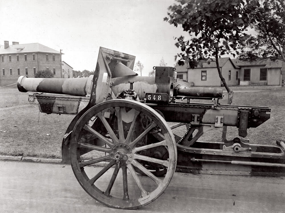 1919 Schneider Howitzer — The standard Howitzer for the U.S. Army during WWI. The last American shot fired during the Great War was fired by a Schneider Howitzer called Calamity Jane, of the 11th Field Artillery Regiment.