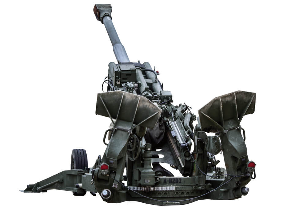 Current M777A2 155mm Howitzer — Made in part from titanium, the M777A2 is 41 percent lighter than its predecessors. It uses a digital fire-control system, allowing it to be quickly put into action.