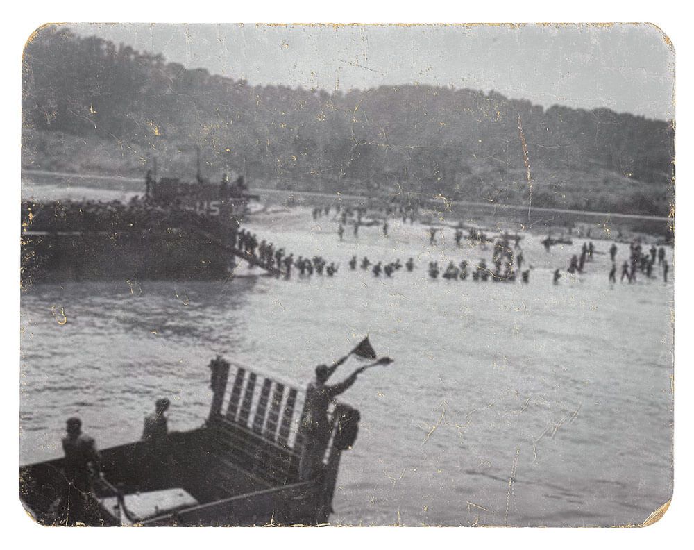 45th Infantry Division lands at Sainte Maxime, France, Aug. 15, 1944. Photo courtesy Oklahoma Army National Guard