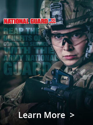 Re-enlist in the Guard and continue to receive a host of benefits that create a support structure for your life.