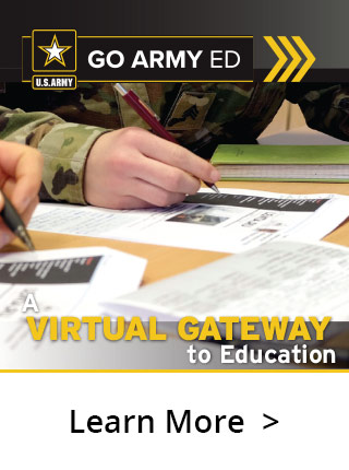 Jumpstart your education goals. Create an account at GoArmyEd.com