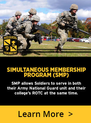 SMP allows Soldiers to serve in both their Army National Guard unit and their college's ROTC at the same time.