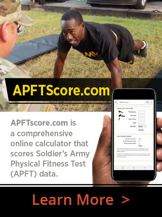 APFTScore.com Stay on Top of APFT Readiness and Results