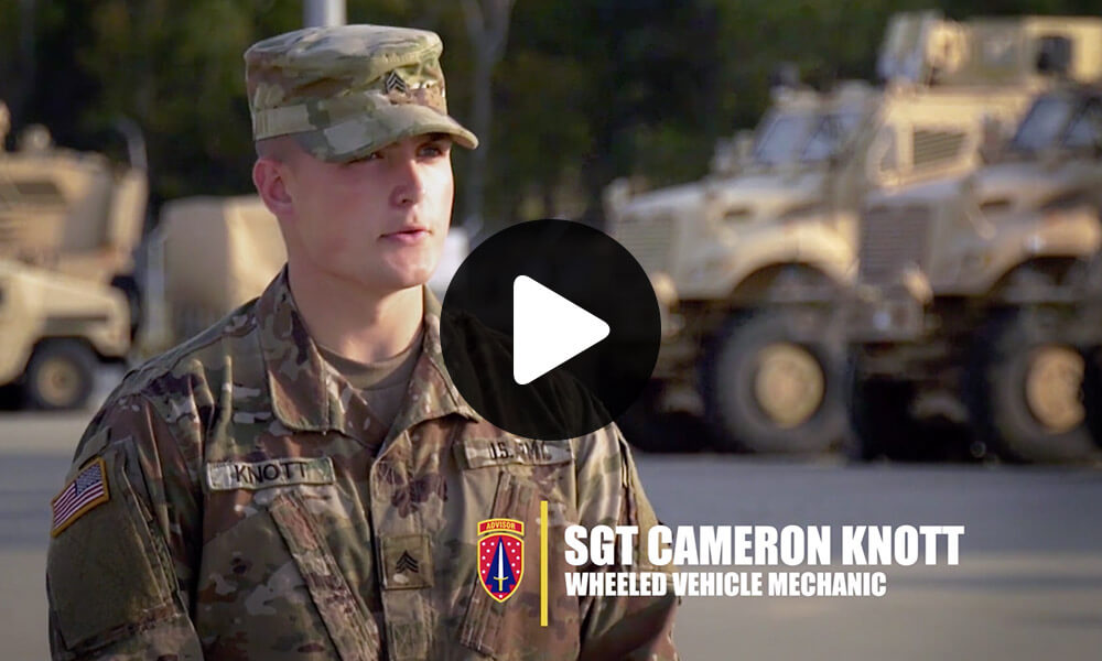 U.S. Army Sgt. Cameron Knott - Wheeled Vehicle Mechanic - Why I Joined the SFAB