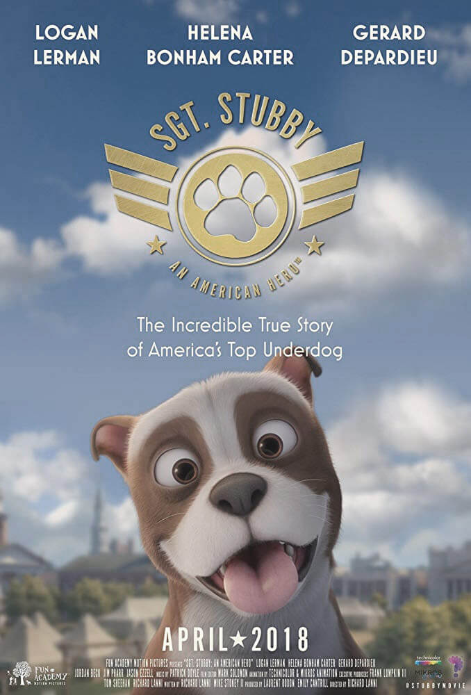 In the spring of this year, the iconic story of SGT Stubby was made into a feature length animated film. It tells the story of this heroic service animal while offering an educational introduction to war history and promoting the concepts of teamwork and courage.