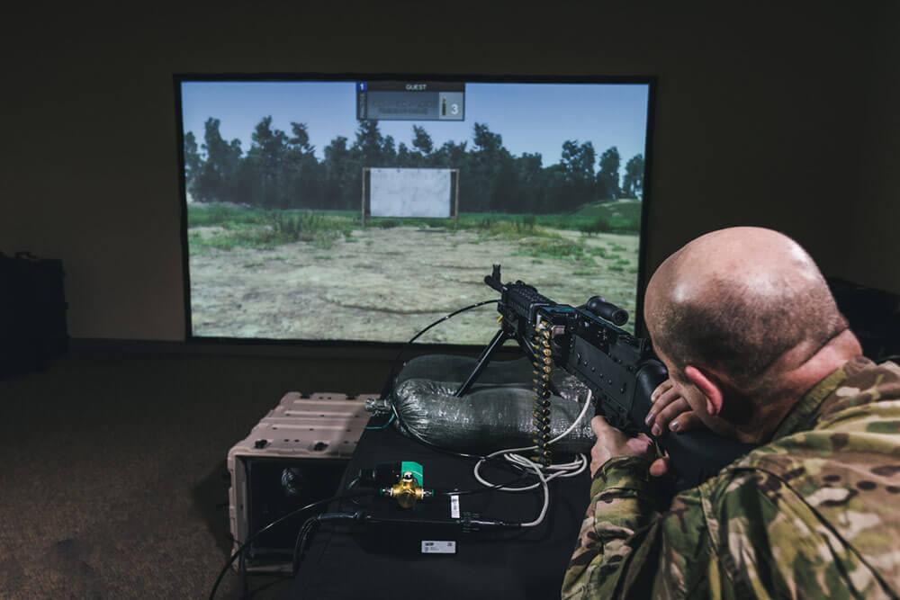 Laser Shot's Mobile Marksmanship Training Simulator (MMTS). Photo courtesy of Laser Shot Simulations