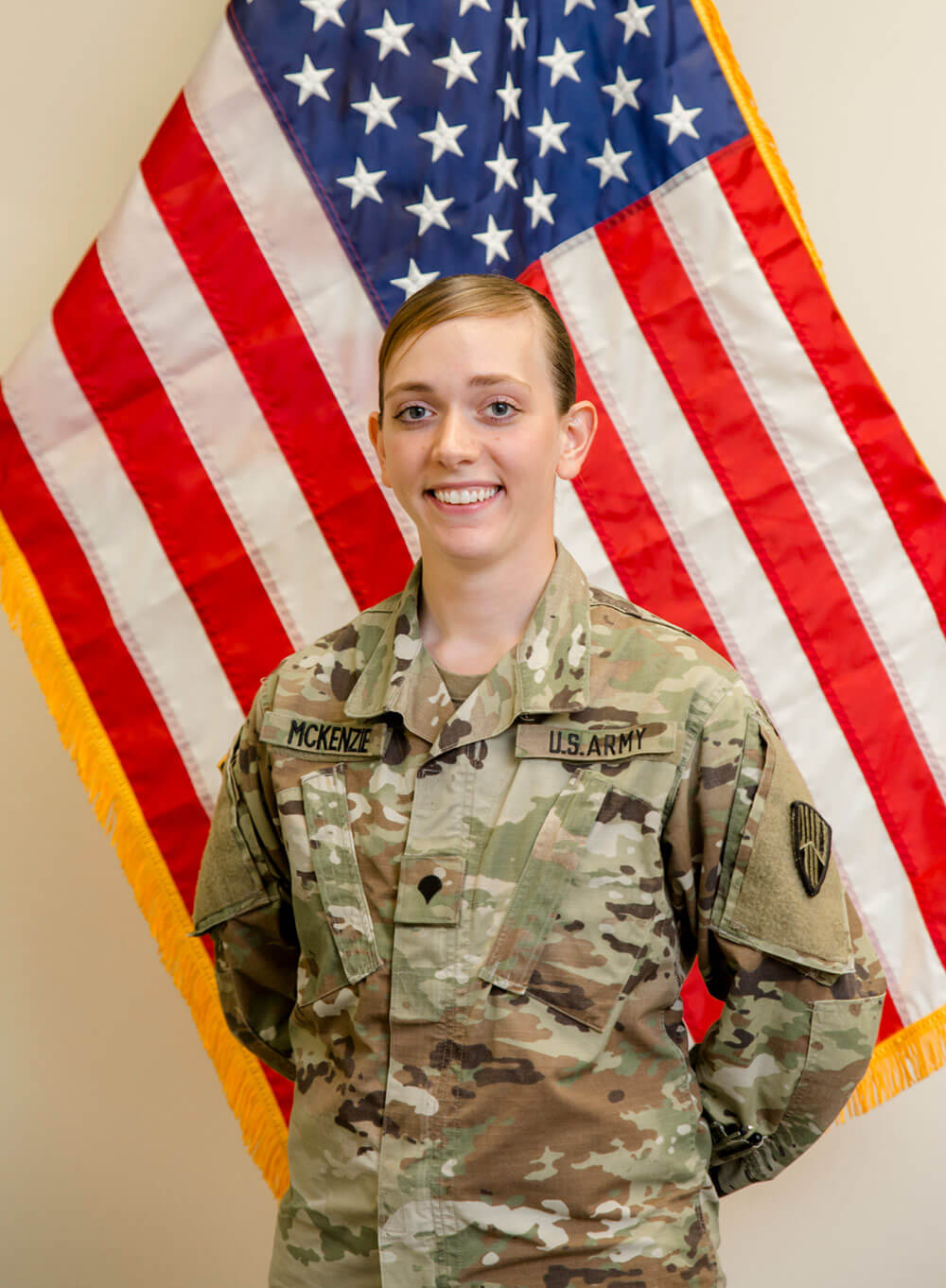 SPC Nicole McKenzie of the New York Army National Guard.