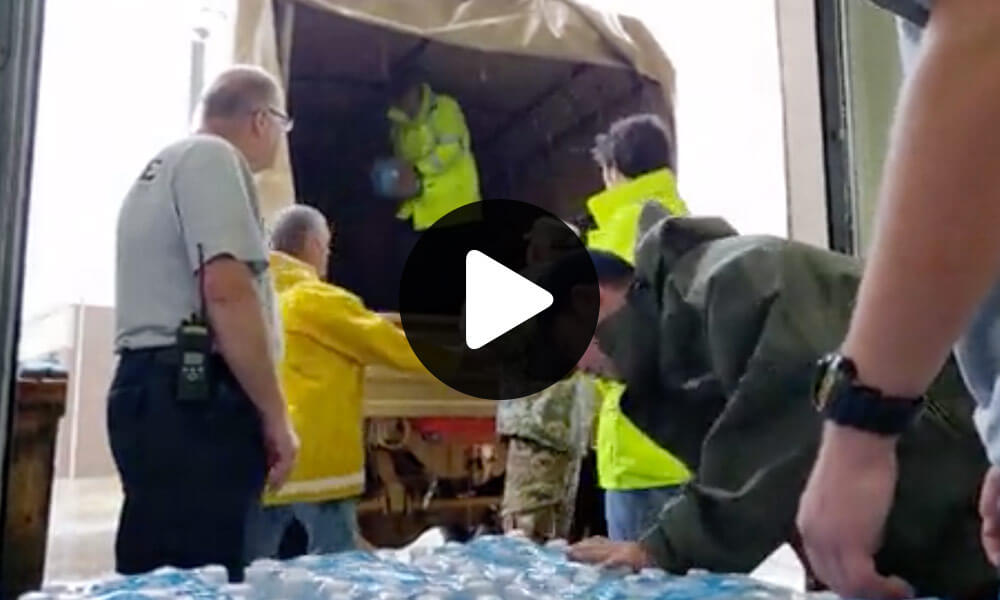 N.C. National Guard Soldiers Assists In Delivering Essential Food and Water thumbnail image