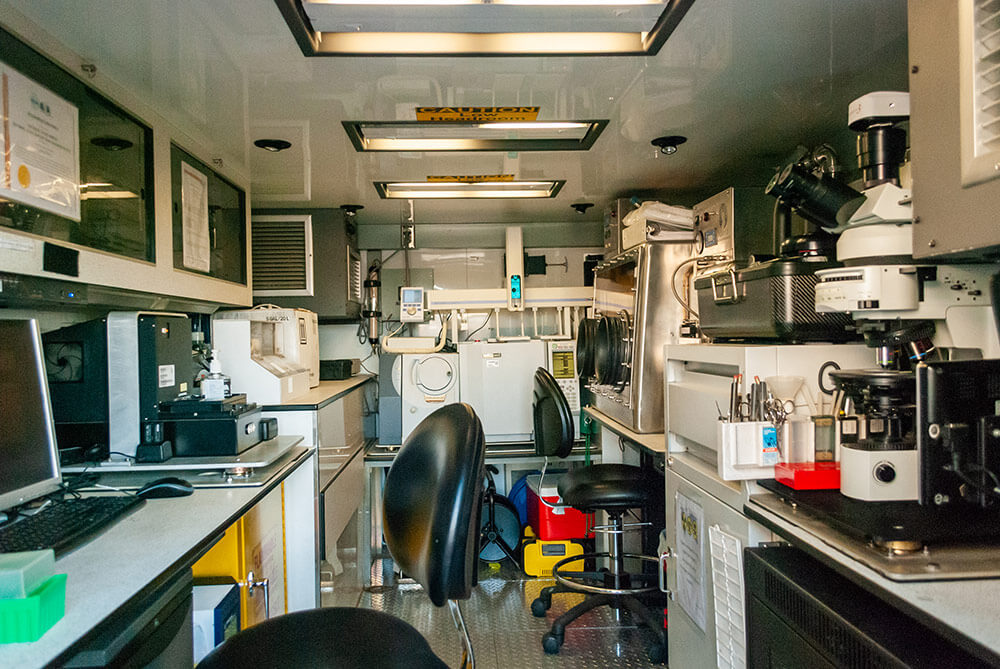 Interior shot of the 33rd Civil Support Team's mobile Common Analytical Laboratory System. National Guard Bureau photo by Luke Sohl