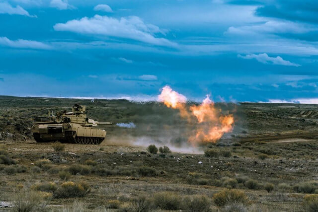 Members of Alpha Company, 2nd Battalion, 116th Cavalry Regiment, conduct table six tank crew qualification, February 2019, at the Orchard Combat Training Center in Boise, Idaho. The Idaho Army National Guard Soldiers are preparing for the 116th Cavalry Brigade Combat Team's upcoming rotation at the National Training Center, Fort Irwin, Calif., later this year. Idaho Army National Guard photo by SGT Mason Cutrer