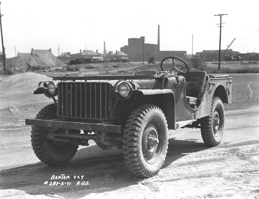 Bantam BRC-40, 1/4 Ton, 4x4, Light Reconnaissance photographed during Army Testing. Public domain photo